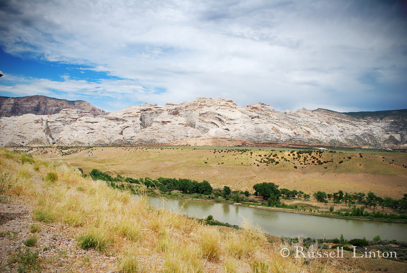 View of the Green River as it meanders by Split Mountain at the Dinosaur National Monument, Utah.