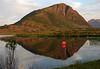 Hoven i Lofoten i Midnattsol<br /> <br /> Mt Hoven in Lofoten in midnightsun