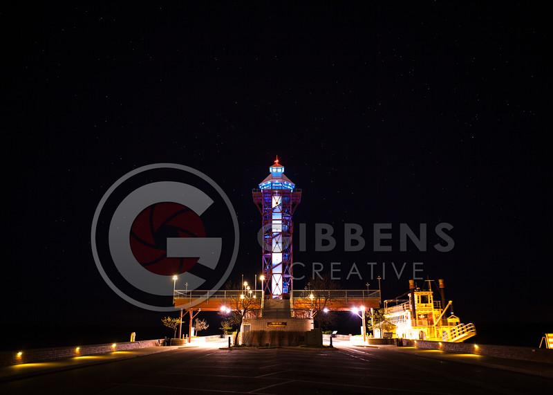 Dobbins Landing at Night