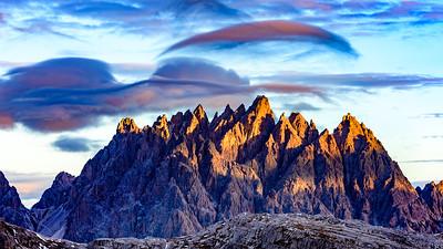 Lenticular Cloud Over Peak #2