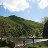 Dovedale - The dog is still determined not to go across the river