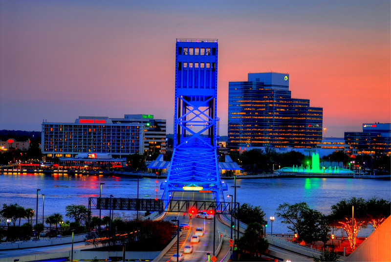 HDR image of Down Town Jacksonville, FL.