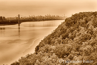 George Washington Bridge from Jersey Palisades