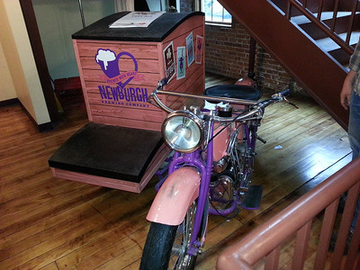 motorcycle on display at newburgh brewery. on loan from motorcyclepedia
