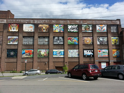 arts district on main street in Beacon NY.