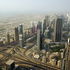 View from the top to Sheikh Zayed Road