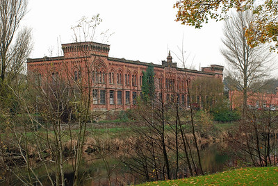 Rosefield Mills from across the River Nith.