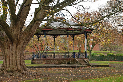 The old bandstand in the Dock Park.
