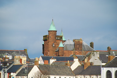The Court house , Dumfries from across the River Nith.