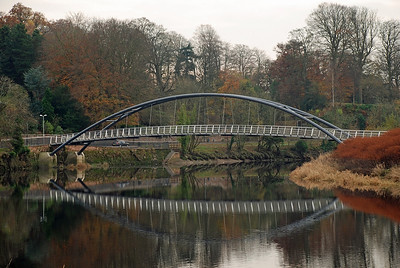 The newest bridge over the nith at Dumfries which links Troqueer and Castledykes.