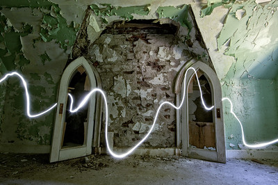 Light painting at Dundas Castle