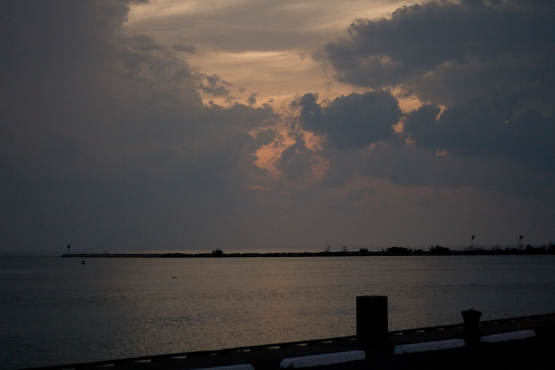 Sunset from the pier in Dunkirk, NY.