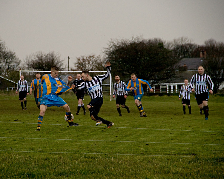 Spittal scoring against Craster Rovers