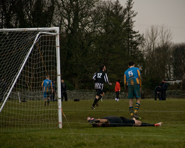 Spittal scoring against Craster Rovers