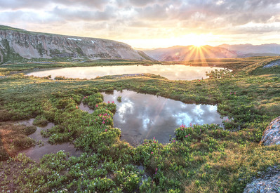 Mountain Sunrise Reflection