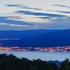 Twilight over  Lake Neuchatel