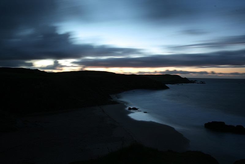 A long exposure of the sunset overlooking Sango Bay Beach, Durness.