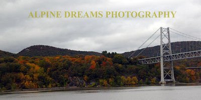 STEEL BRIDGE IN THE FALL
