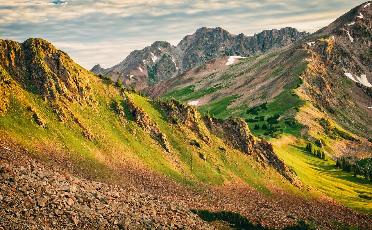 Early Morning Sun & Red Buffalo Pass