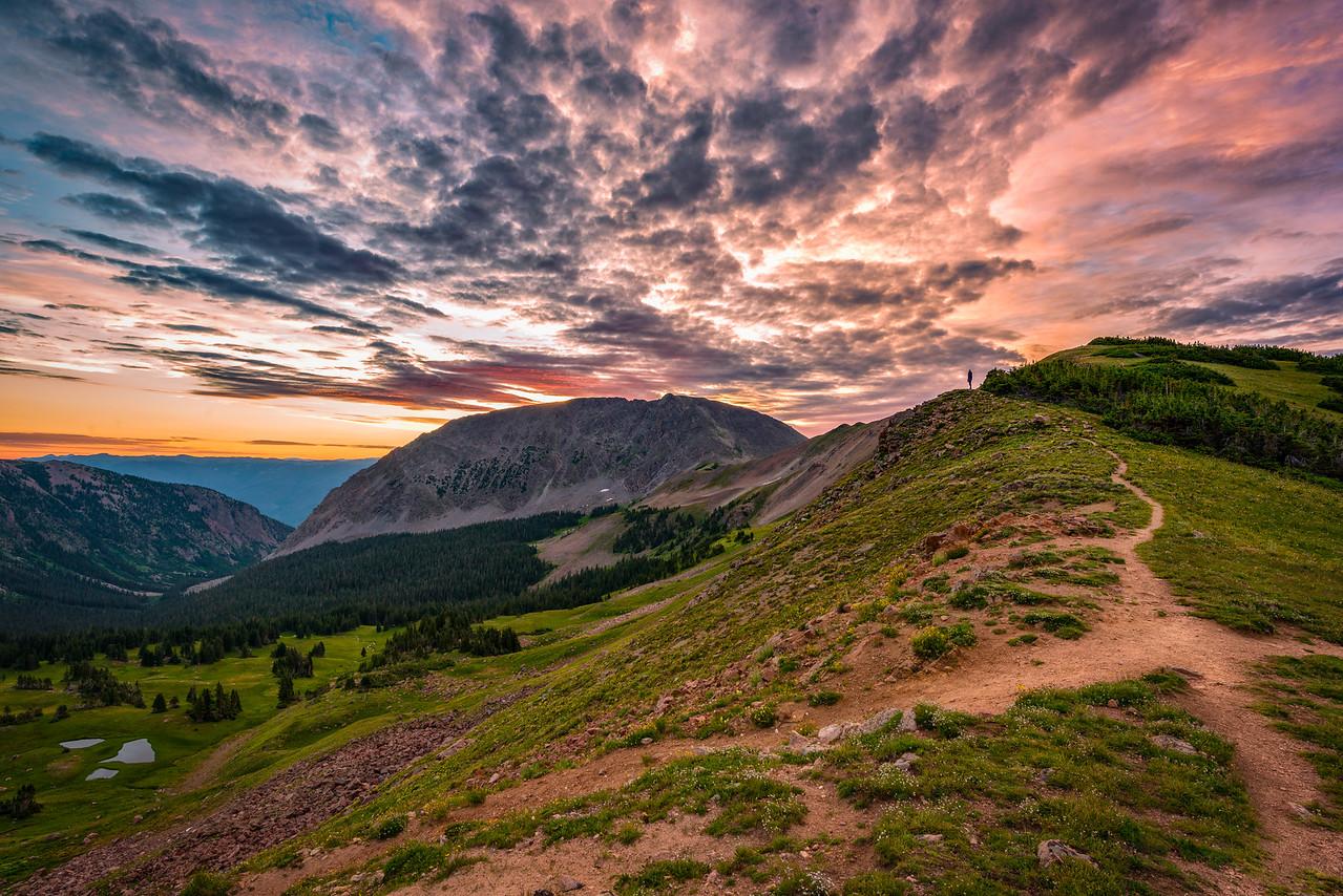 Sunrise over Eccles Pass