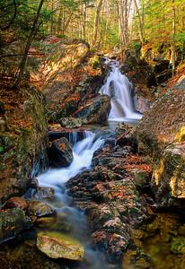 La Pruche trail waterfall in Mont Tremblant