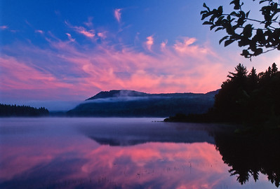 Pink clouds at dawn