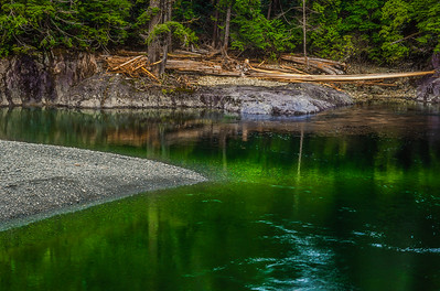 Spring runoff on Vancouver Island