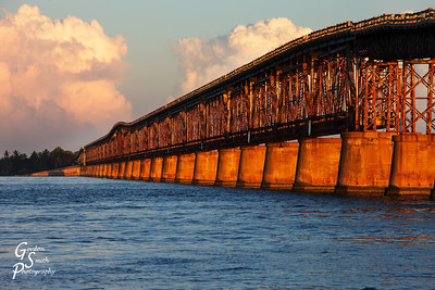 Bahia Honda Bridge at Sunset is a beautiful man-made structure.  Though it is falling apart, it's still a great place for sunset.  This was absolutely beautiful.