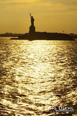 Lady Liberty in the Sun