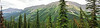 Gaff Peak panorama, from Crown Mountain
