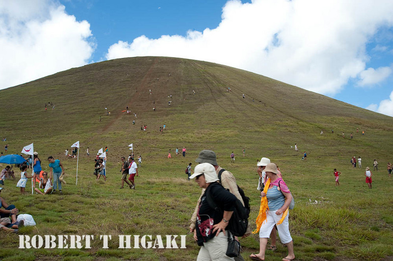 """this is the location of the """"banana sled"""" slide( Haka Pei). this spot is called Cerro Maunga Pu'i. This event only occurs during the Tapati Festival which begins in early Feb."""