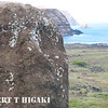 tukuturi with Ahu Tongariki( this is a telephoto compression trick shot- the background is really far away- see the previous image). This shot would have been better if I had two more feet to work with. I had my back against the rock wall to get this shot.