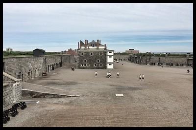 Inside the Citadel, Halifax, Nova Scotia.