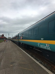 Ocean Sleeper to Halifax - stopped at Moncton, New Brunswick.
