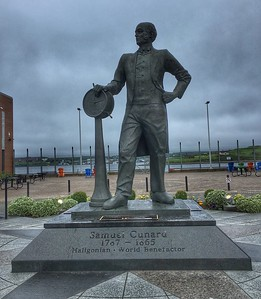 Memorial to Sam Cunard on the Pier complex, Halifax, Nova Scotia.