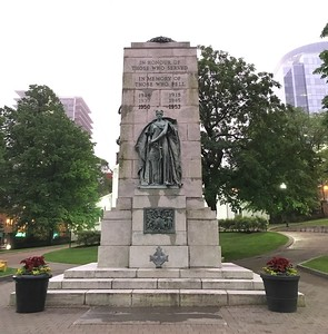 Memorial to Canadians who died in the First and Second World War, the Korean War and the Afghanistan conflicts of this century.