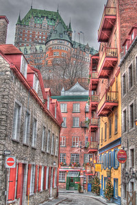 Chateau Frontenac and Petit Champlain