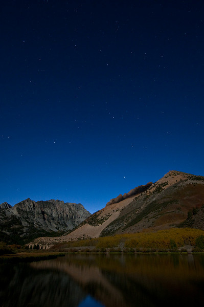 Stars over Northlake at Night.  Outside of Bishop shooting fall colors, we went back to the lake.