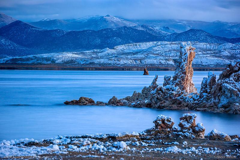Mono Lake Winter Snow South Tufa