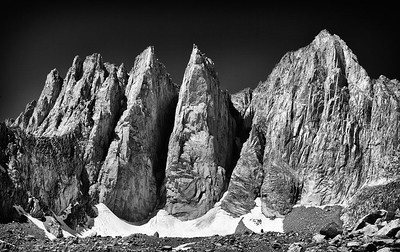 The Face of Mt Whitney - Eastern Sierra - California