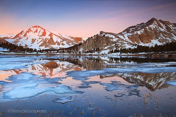Melted Ice Eastern Sierra Nevada Range John MuirWilderness