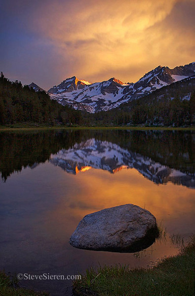 Bear Creek Reflection Little Lakes Valley, Eastern Sierra John Muir Wilderness