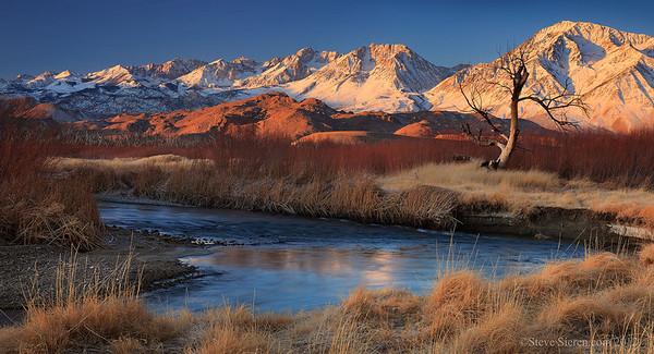 Owens River Eastern Sierra Panorama