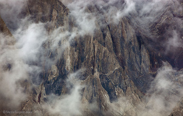 Engulfed in the Clouds Mt. Laurel above Convict Lake Eastern Sierra Nevada, Califorina