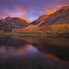 Dramatic sunrise light at North Lake during a beautiful dislpaly of fall color in the Eastern Sierra.