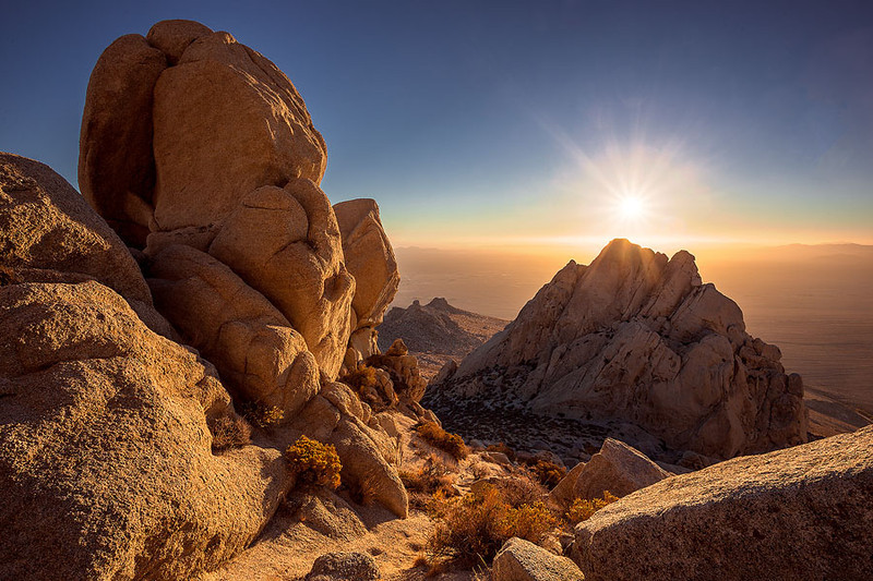 View of the Mojave Desert from Five Fingers summit in the Southern Sierra near Owens Peak.