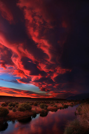 Lenticular cloud over Owens River Owens Valley, CA - Steve Sieren