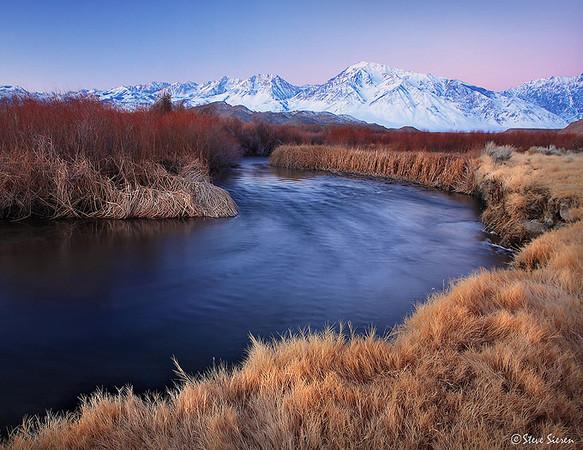 Meandering Twilight Eastern Sierra, California