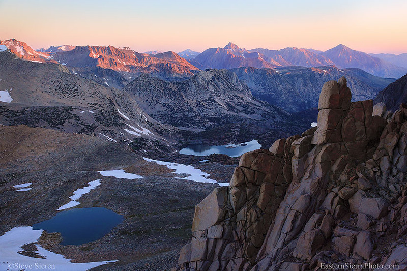 Bishop Pass and the slopes of Mt Agassiz, Eastern Sierra Nevada Kings Canyon National Park / John Muir Wilderness