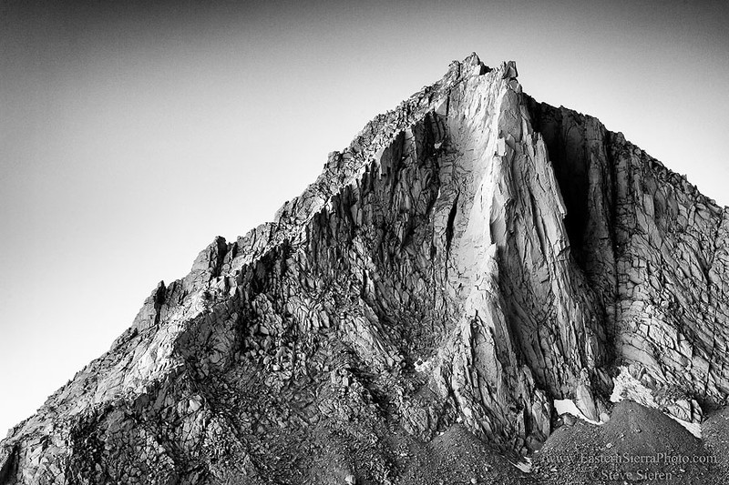 Merriam Peak - Eastern Sierra Nevada - John Muir Wilderness - Black and White